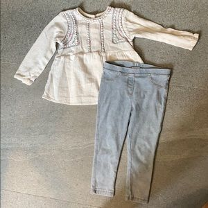 Zara baby girl top & pants